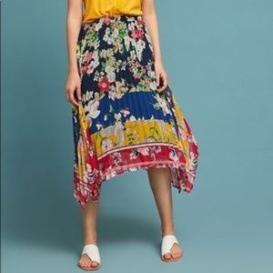 Anthropologie Leora Floral skirt